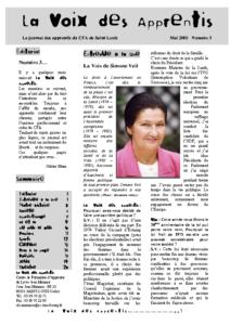 La Voix des Apprentis N° 3- Mai 2005