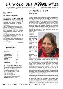 La Voix des Apprentis N° 4- Décembre 2005 – La nourriture