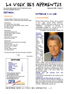 La Voix des Apprentis N° 7 – Décembre 2006 – L'absence