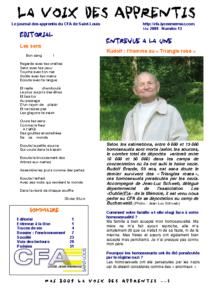 La Voix des Apprentis N° 13 – Mai 2009 – L'environnement