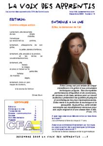 La Voix des Apprentis N° 14 – Décembre 2009 – La communication