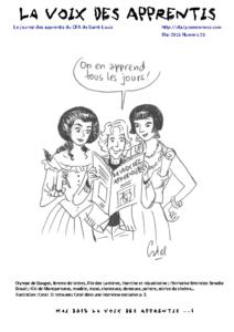 La Voix des Apprentis N° 25 – Mai 2015 – La création