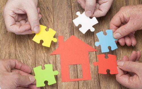 El núcleo familiar hacen un aporte para adquisición de vivienda - concepto de vivienda.