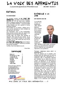 La Voix des Apprentis N° 6 – Mai 2006 – Le jeu
