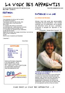 La Voix des Apprentis N° 8- Mars 2007 – Le climat
