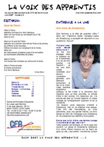 La Voix des Apprentis N° 9 – Juin 2007 – La frontière
