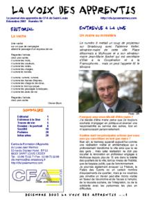 La Voix des Apprentis N° 10 – Décembre 2007 – Le portrait