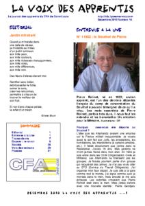 La Voix des Apprentis N° 16 – Décembre 2010 – Le miroir