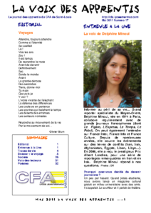 La Voix des Apprentis N° 17 – Mai 2011 – Le voyage