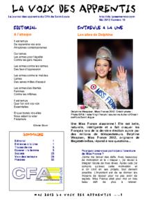 La Voix des Apprentis N° 19 – Mai 2012 – La femme