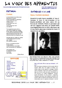La Voix des Apprentis N° 20 – Décembre 2012 – L'enfance