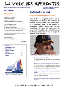 La Voix des Apprentis N° 23 – Mai 2014 – Le choix