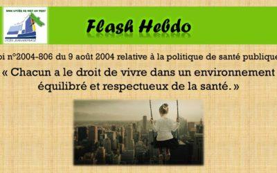 Flash Hebdo #20